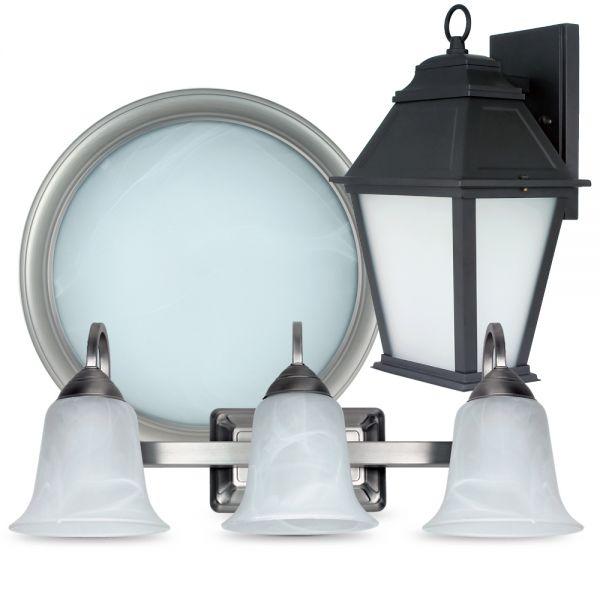 Compact fluorescent light fixtures