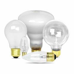 Incandescent light bulb collage