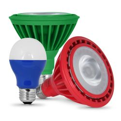 Color LED Light Bulbs