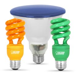 Colored CFL Bulbs
